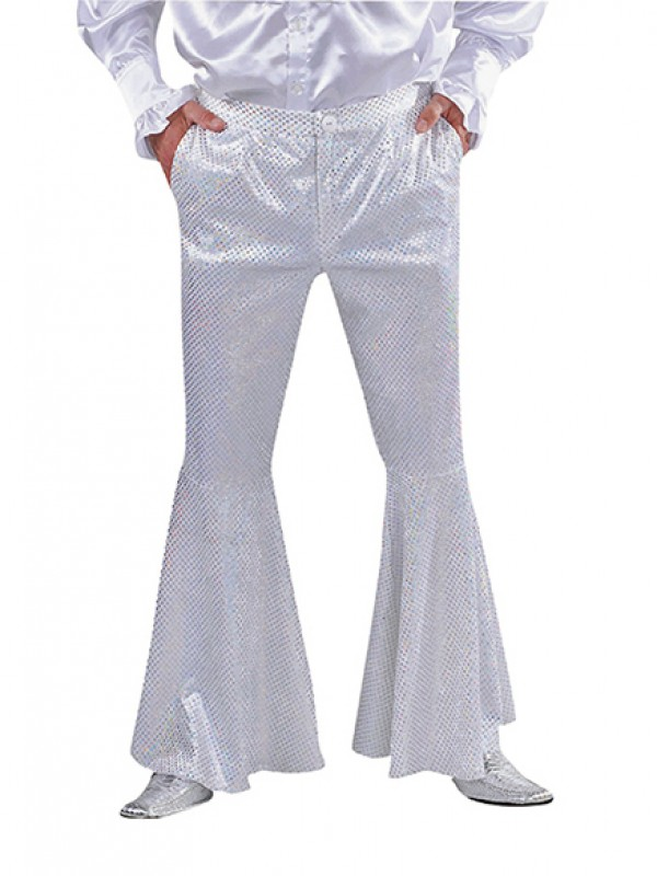 Disco broek, pailletten - Wit