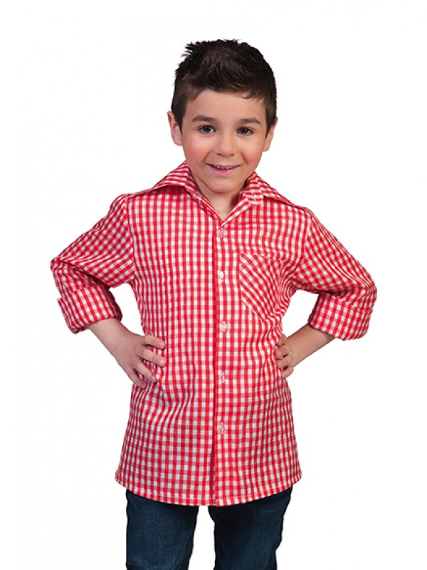 rood wit geruite blouse