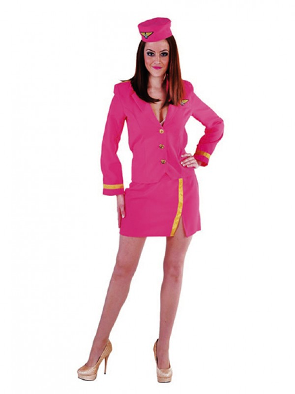 Stewardess 3-dlg Pink