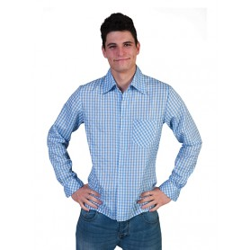 Checkered Shirt Blauw/Wit