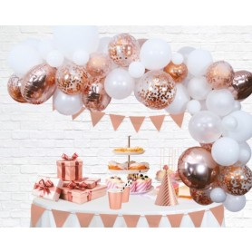 Ballonnen deco kit rose goud
