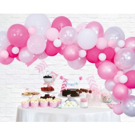 Ballonnen deco kit rose