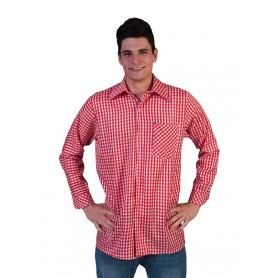 Checkered Shirt Red/White