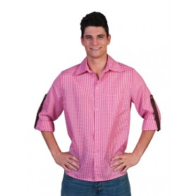Checkered Shirt Roze/Wit