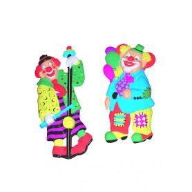 Clown decoratie masker