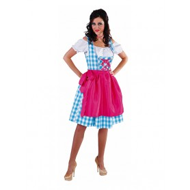 Dirndl 3 dlg turquoise/wit