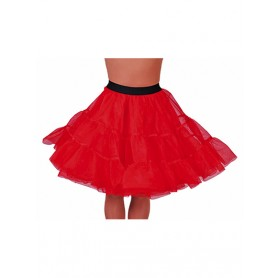 Petticoat knielengte - Rood