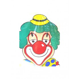 Raam sticker Clown