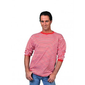 Rood Wit gestreept T-Shirt