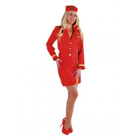 Stewardess 3-dlg Rood